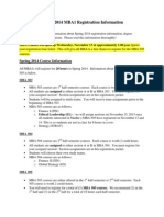 UIUC Spring 2014 MBA1 Registration Information