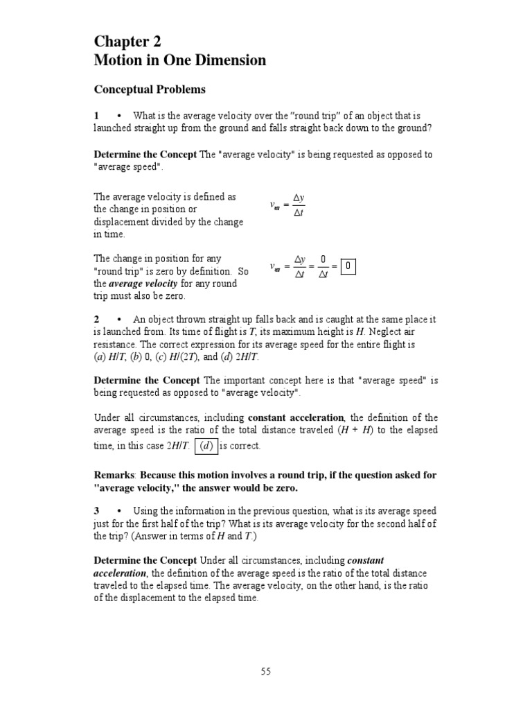 physics for scientists and engineers 6th edition: CHAPTER 2 | Velocity |  Acceleration
