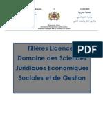 1 Filières Licences DEtudes Fondamentales Domaine Des Sciences Juridiques Economiques Sociales Et de Gestion 3
