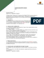 Edital Do Processo Seletivo 2014