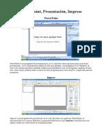 13629415 Compracion Impress Powerpoint y Presentacion