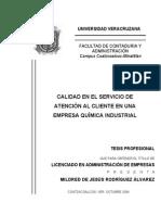 Calidad en El Servicio de Atencion Al Cliente en Una Empresa Quimico Industrial-RodriguezAlvarez
