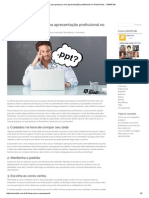 8 dicas para preparar uma apresentação profissional no PowerPoint