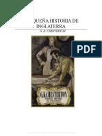 Chesterton Pequena Historia de Inglaterra