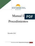 Producto Manual de Procedimientos Famd