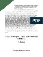 Bosnian Book_biography Veda Incarnate