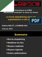 A. Belot - Truck Dispatching Dans Les Exploitations a Ciel Ouvert