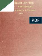 William Sanday (Melhor Digitalizaçao) - 1902 - Criticism of the New Testament