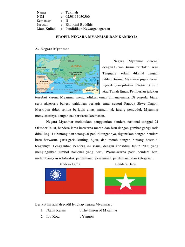 Gambar Negara Myanmar Profil Negara Docx