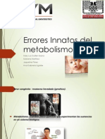 Errores Innatos Del Metabolismo Final