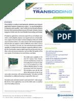 Sangoma D100 Series Transcoding Card Datasheet