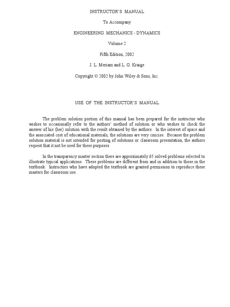 Engineering mechanics dynamics meriam kraige solutions manual pdf ebook at our online library array solutions manual mechanics dynamics meriam chapter 2 rh scribd com array engineering fandeluxe Images