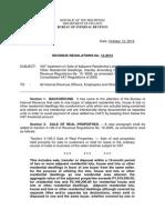 Revenue Regulation No 13-2012