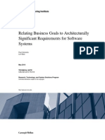 SEI TN 018 Relating Business Goals to Architecturally Significant Requirements