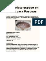Chocolate Espeso en Taza Para Pascuas