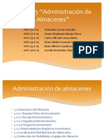 Unidad 5 Administracion de ALmacenes