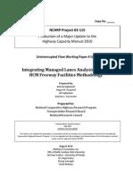 NCHRP 3-115 WP U-9-Integrating Managed Lanes