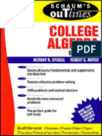 Schaum's Outline College Algebra