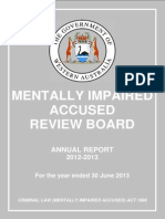 Mentally Impaired Review Board Ann Report 2013