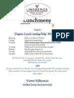Lunchmeny Vecka 37