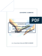 Giuseppe Tambone eBook Diritto Sportivo Internazionale 48 2014