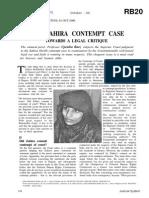 Zahira Habibullah Sheikh & Anr vs State Of Gujarat & Ors