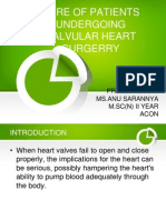Care of Patients Undergoing Valvular Heart Surgerry