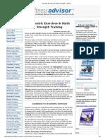 Isometric Exercises for Static Strength Training