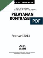 Laporan Hasil Pelayanan Kontrasepsi (02/2013)