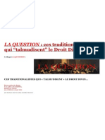 Amabilus Manziaci Le Blogue La.question Ces Traditionalistes Qui Talmudisent Le Droit Divin Avec Table