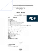 the Unit Titles Regulations of 2009