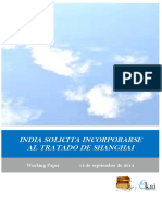 INDIA SOLICITA INCORPORARSE AL TRATADO DE SHANGHAI (SCO)