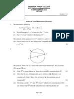AJC H2 Math 2013 Prelim P2