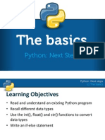 python next steps l1 the basics