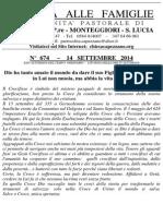 Lettera alle Famiglie - 14 settembre 2014