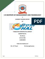 HAL Summer Training Report