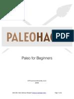 Paleo for Beginners 2013