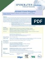 Singapore Course Programme