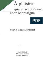 Demonet,2002,A Plaisir-semiotique Et Scepticisme Chez Montaigne