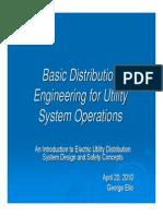 Basic Distribution Engineering Utility System Operations