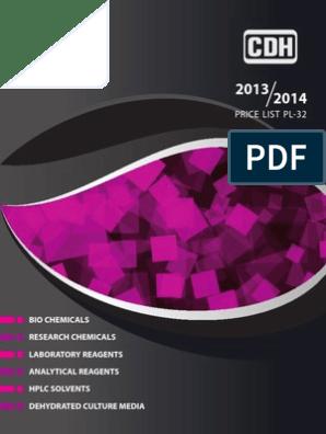 CDH Price List PL-32 | Agarose Gel Electrophoresis | Gel Electrophoresis