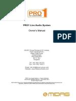 MIDAS PRO1 Operators Manual