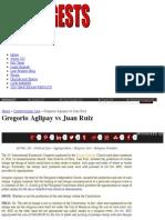 Gregorio Aglipay vs Juan Ruiz   Uber Digests