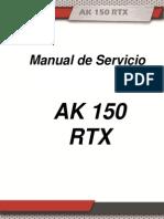 Manual de Servicio - AKT RTX 150