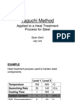 Taguchi Method - Heat Treatment of Steel