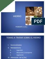 Metabolismo Del Hierro Nuevas Prorteinas