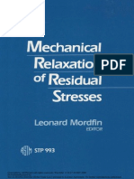 Scientific Study of Mechanical Relaxation of Residual Stress.pdf