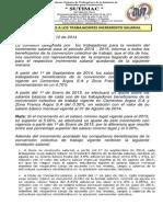 comunicado 002 a los trabajadores aumento salarial septiembre 12 de 2014