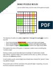 Sudoku Puzzle Rules