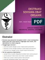 Ekstraksi Senyawa Obat Organik Fix